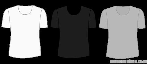 無地Tシャツ(白・黒・グレー)