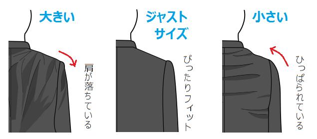 ジャケット・肩幅サイズ
