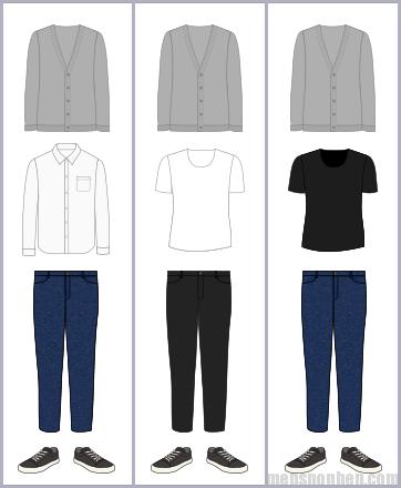 カーディガンの組み合わせパターン