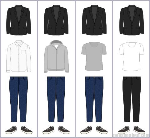 ジャケットの組み合わせパターン