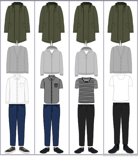モッズコートの組み合わせ例