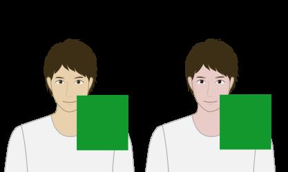 緑が似合うのはどっち?