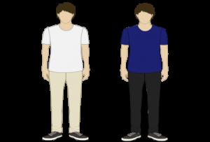 がっちり体型(白系・黒系)