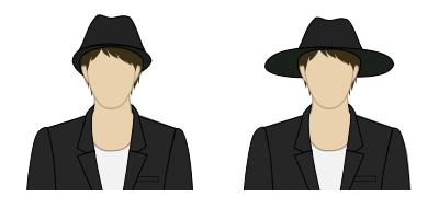 デルブーフ錯視(帽子)