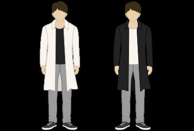 濃い色と薄い色の配置