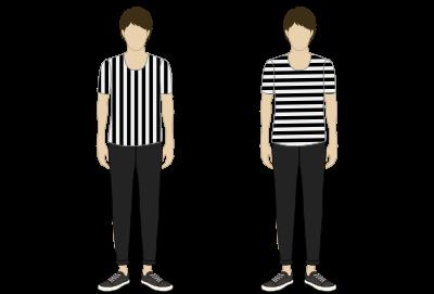 縦縞・横縞(Tシャツ)
