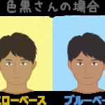 色黒(イエロー・ブルーベース)