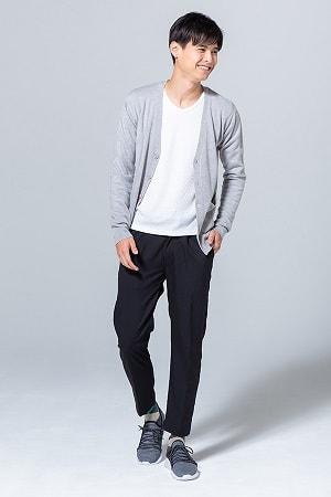 カーディガン×長袖Tシャツ×パンツ(3点セット)