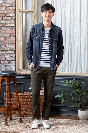 長袖シャツ ×半袖Tシャツ×パンツ(3点セット)