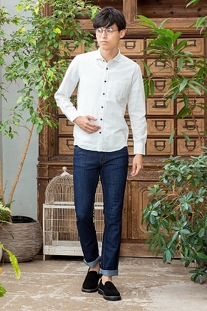 長袖シャツ×半袖Tシャツ×パンツ(3点セット)