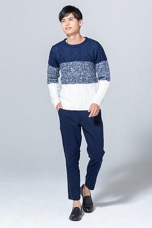 ニット×長袖Tシャツ×パンツ(3点セット)