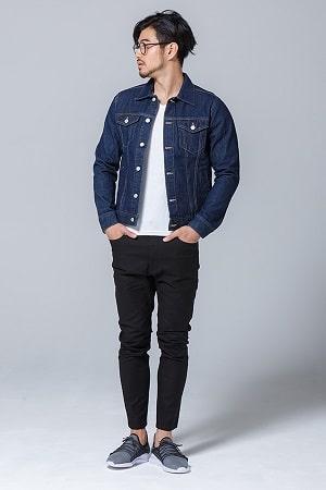 デニムジャケット×半袖Tシャツ×パンツ(3点セット)