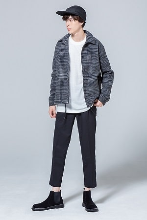 コーチジャケット×長袖Tシャツ×パンツ(3点セット)