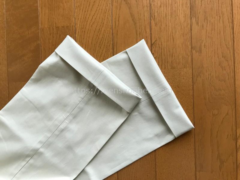 ドゥクラッセ ストレッチコットンパンツ・裾
