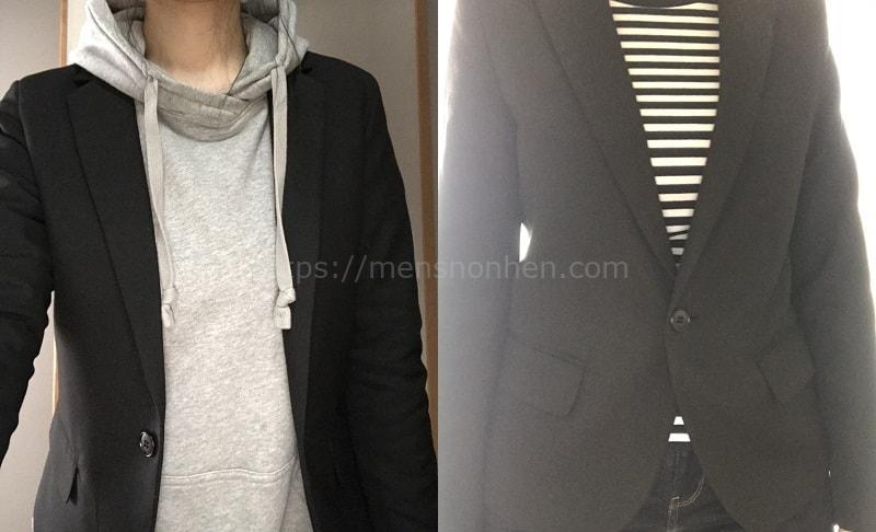テーラードジャケットコーデ