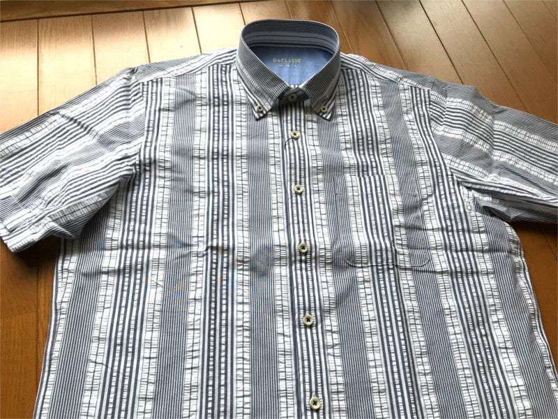 DoCLASSE シアサッカーボタンダウンシャツ
